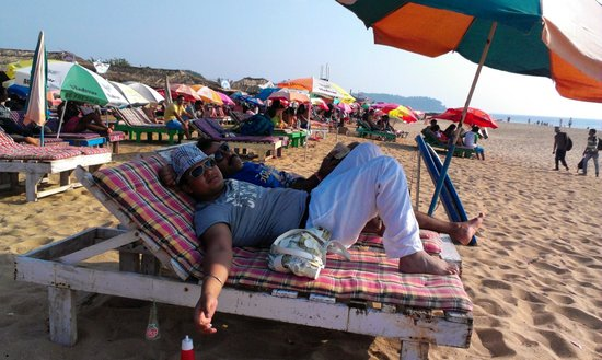 Candolim Beach:                   Beach Bed