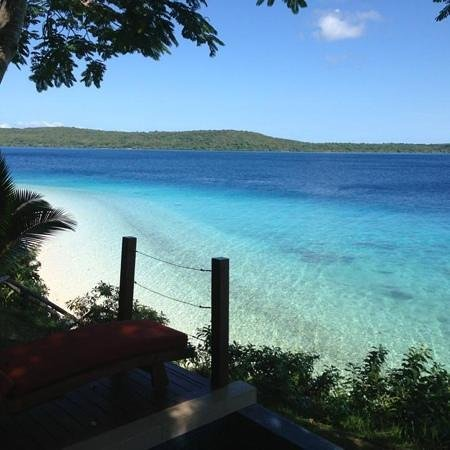 The Havannah, Vanuatu:                   view outside our room