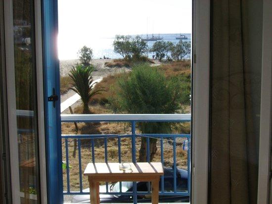 Hotel Afroditi:                   Vue de notre chambre