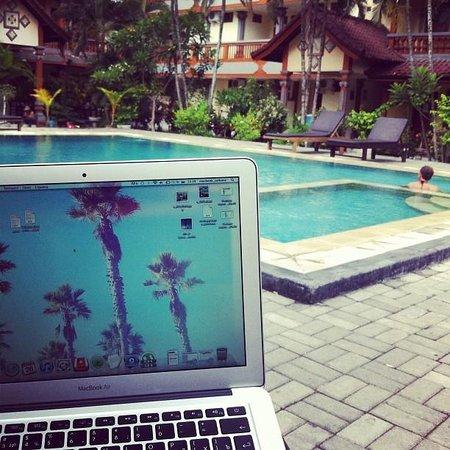 Beneyasa Beach Inn:                   work near the pool