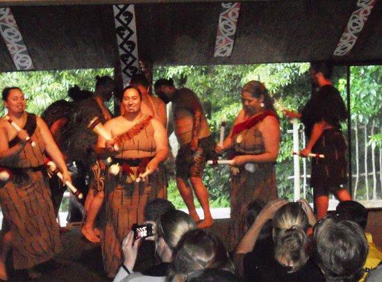 Tamaki Maori Village:                   Singing & dancing show