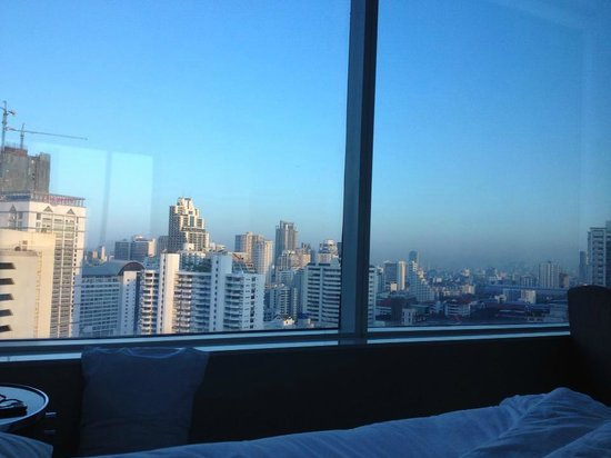 Grande Centre Point Terminal 21:                   view from our bed! unreal