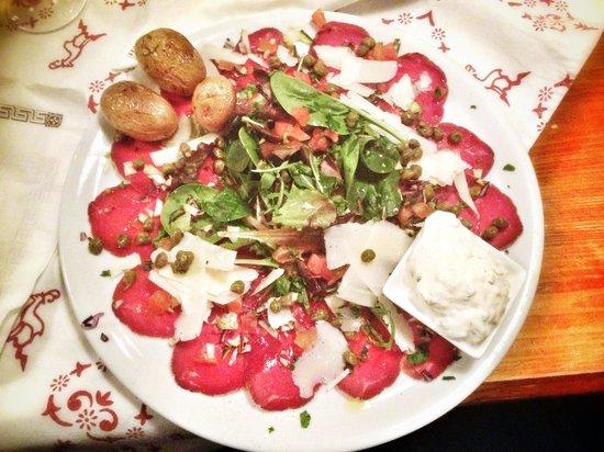Chez Fred :                   Beef carpaccio!