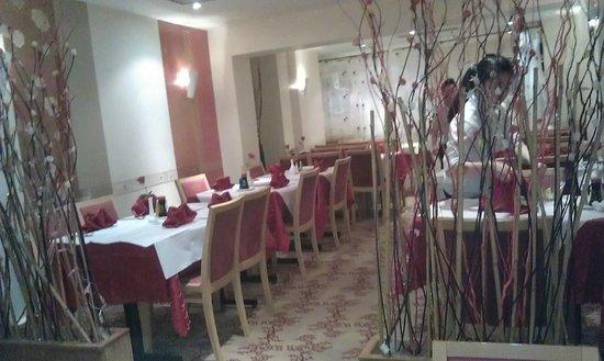 Lychee Garden:                   Inside top of restaurant