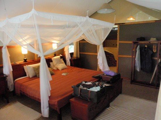 Ishasha Wilderness Camp:                   inside the tent