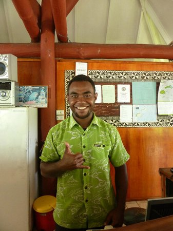 Daku Resort:                   Keni bar staff. Very easy going