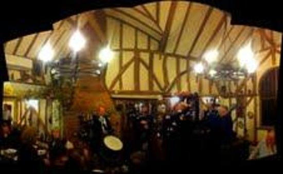 The Fox Inn:                   5 pipers and a drummer playing for the diners on Burns Night 2013