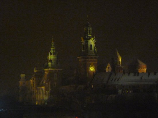 Kossak Hotel:                   Looking out at the castle from our window