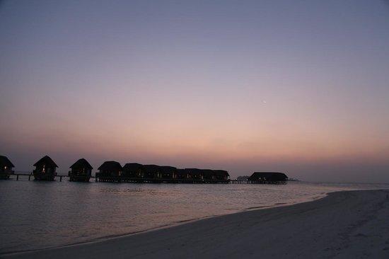 Cocoa Island by COMO :                   日落後