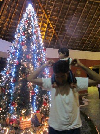 Catalonia Playa Maroma:                   Christmas tree in lobby