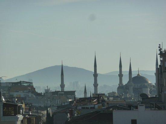 Antik Hotel Istanbul : vista dal ristorante