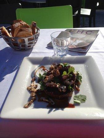 Restaurant Le Montana :                   merveilleuse échine de cochon aux pleurotes