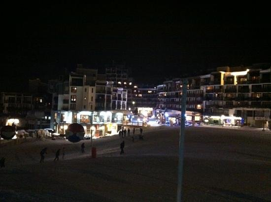 Hotel Vanoise :                   View from the steps outside the bar!!!