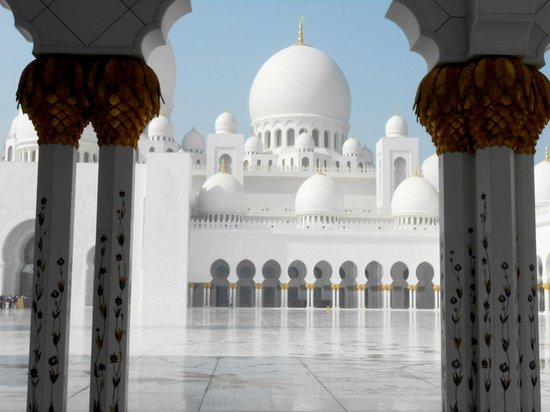 Sheikh Zayed Mosque: all the yellow is gold