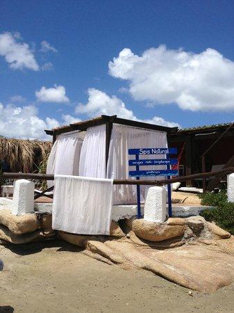 Hosteria La Perla: Spa de la playa, zona de masajes