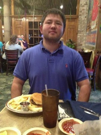 Casa Manana Mexican Restaurant: My son with his food