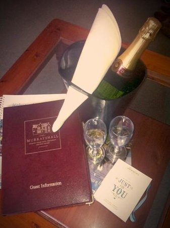 Murrayshall House Hotel: bubbles and chocs on arrival