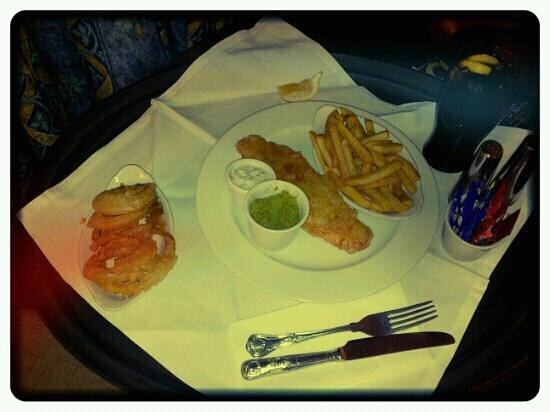 Landmark Hotel:                                     Fish & Chips with homemade onion rings