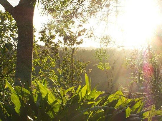 Hotel Berna Tica:                   Die Sonne empfängt uns am frühen Morgen.