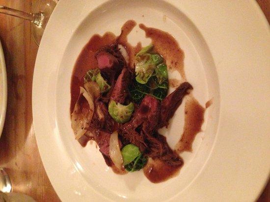The Jolly Farmers Inn:                   Dish 8 of the Beast Feast. Braised leg and roast loin of hare.