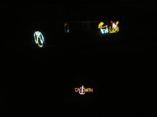 Cadgwith Cove Inn Restaurant:                   Weihnachtliche Hafenbeleuchtung bei Nacht