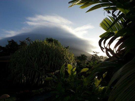 Hotel El Silencio del Campo: Der Vulkan zeigt sich fast.