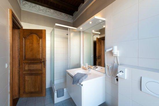 Canalview Hotel Ter Reien: badkamer van de suite