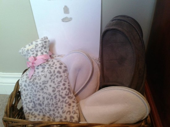 The Battledown Bed and Breakfast: The lovely touch of slippers & hot water bottles for guests use