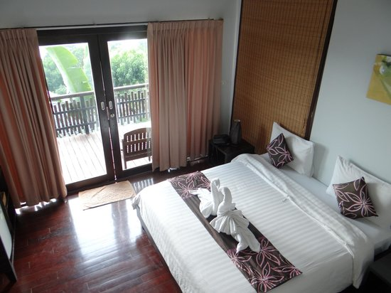 Chintakiri Resort:                   the view of the room from the bathroom stairs