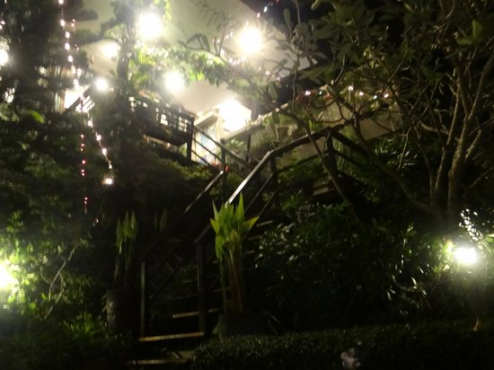 Chintakiri Resort:                   lit up at night