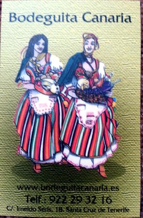 Bodeguita Canaria: Business Card front