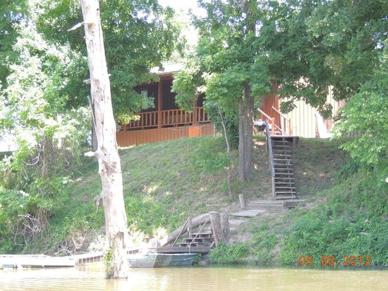 Barren Creek Cottages:                   view from the water