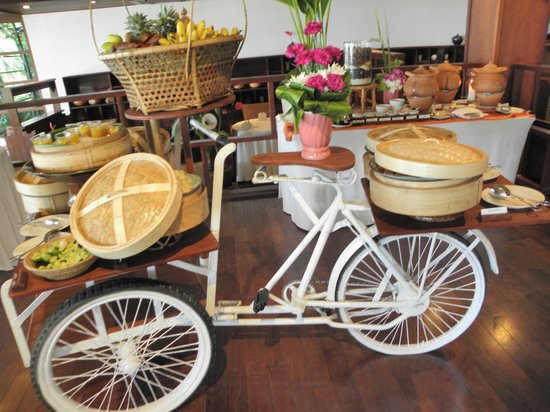 Belmond Napasai : Le buffet du petit déjeuner..incroyable !!
