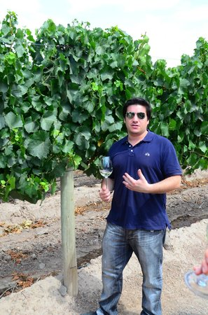 Ampora Wine Tours: Pulenta and our AMpora Guide, Jose