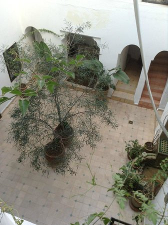 Riad Noor Charana: View from the first floor for courtyard