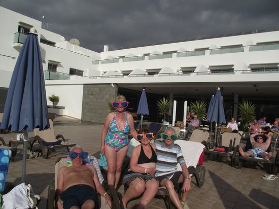 Hotel Lanzarote Village:                   We always got a sunbed.                 