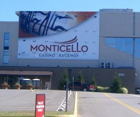 Monticello Casino and Raceway:                   The fron of the Casino