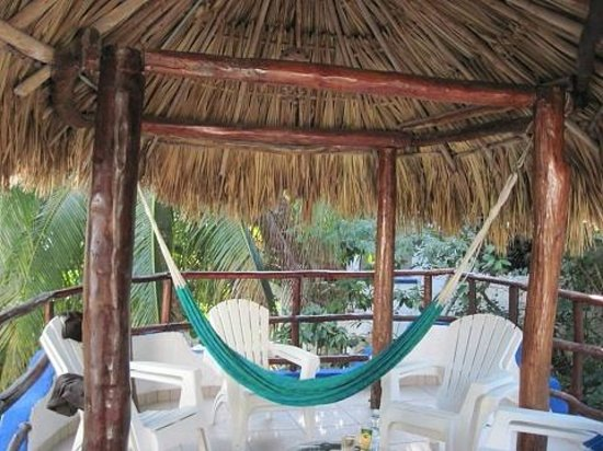 Luna Blue Hotel:                   Private balcony (with hammock!) of Room #36