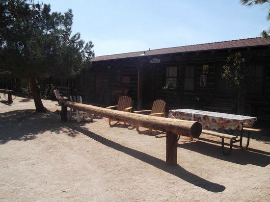 Pioneertown Motel:                   outside our room