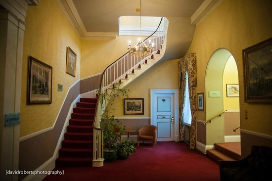 The Bulkeley Hotel:                   First Floor Hallway and Stairs to Second Floor