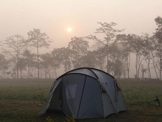 Dihing River Camp:                   One can enjoy one of the most beautiful sunrise here