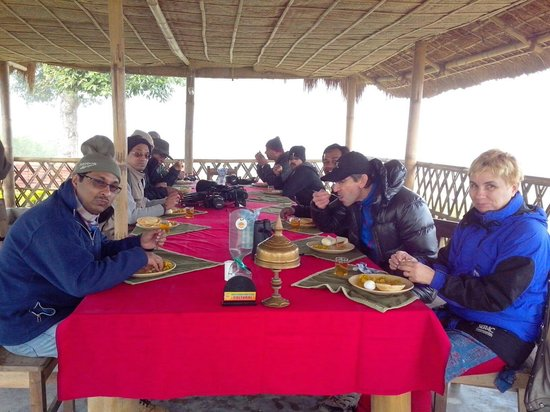 Dihing River Camp:                   The food served is simply awesome!!