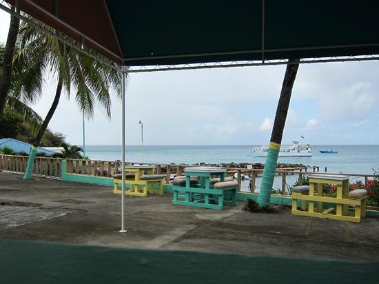 Timothy Beach Resort :                                     view from restaurant on site (Good food/cheap prices!)