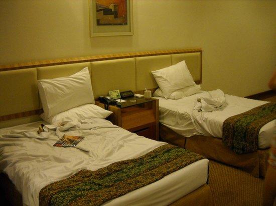 Sunway Putra Hotel:                   Les lits doubles pour les enfants