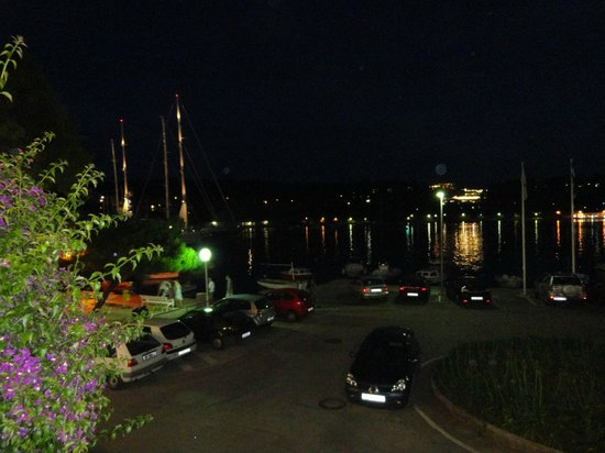 Hotel Supetar:                   Nightime view from the terrace