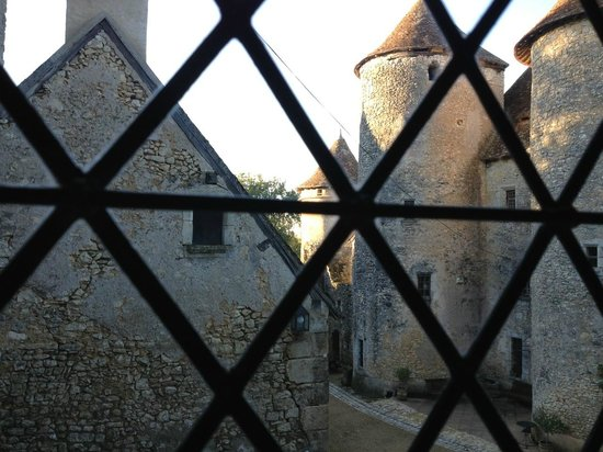 Chateau de Forges:                   Courtyard view from Jeanne room.