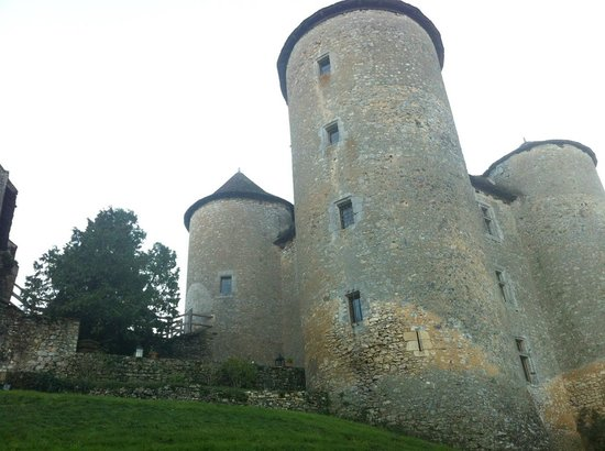 Chateau de Forges:                   The castle viewed from the lawn near the river.