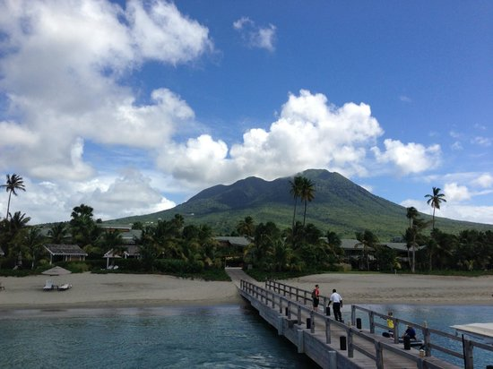 Four Seasons Resort Nevis, West Indies:                   view from boat/ferry pier