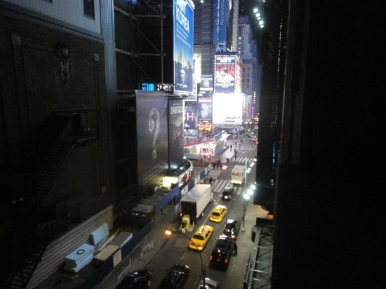 Night Times Square:                   the view from our room - Time Square