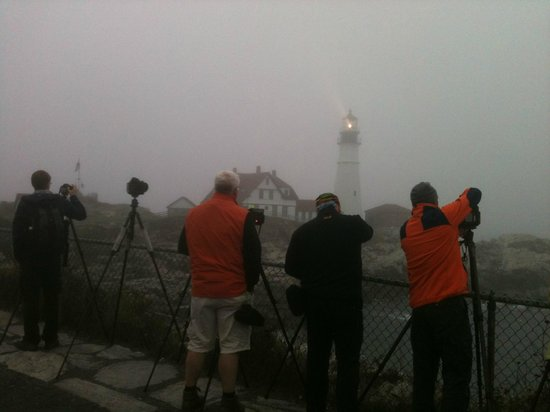 Portland Head Light :                                     The most photographed light house in the world! (On a foggy